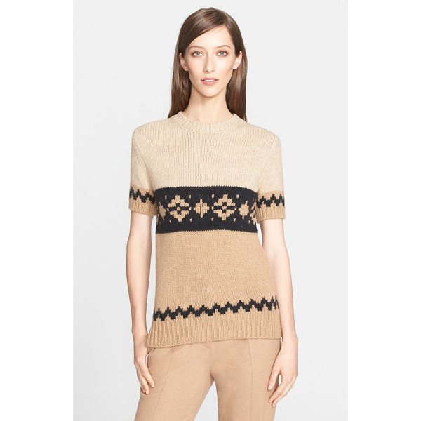 MAX MARA bric short sleeve knit sweater - Lush texture and a svelte silhouette redefine a chic...