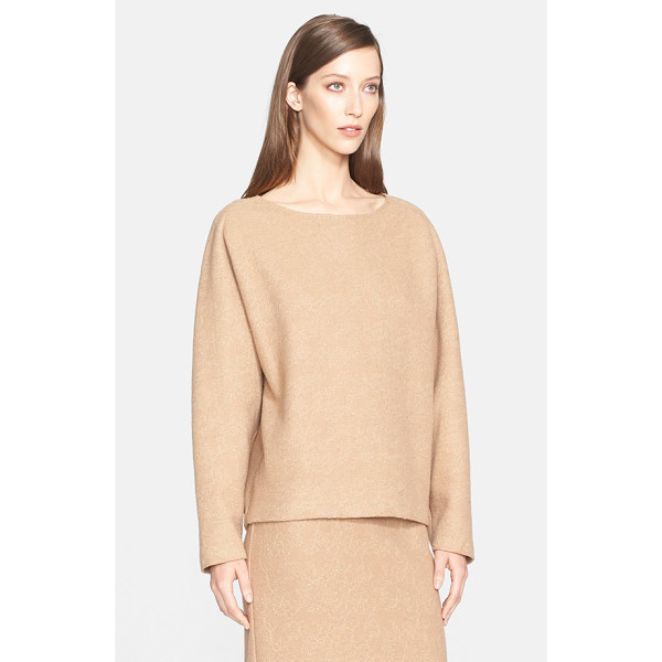 MAX MARA liriche lace trim wool blend sweater - A tonal floral-lace overlay enriches the look and feel of a...