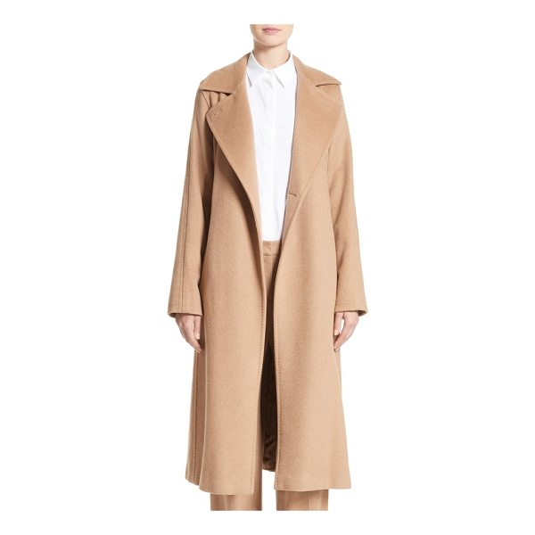MAX MARA 'manuela' camel hair coat - Intricate pickstitching details a timeless camel hair coat...