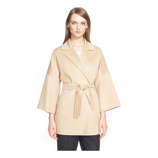 MAX MARA ravello cashmere belted wrap coat - Dropped shoulder seams and wide bracelet-length sleeves...