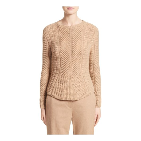 MAX MARA ronco sweater - Mixed stitching and cable braiding enhance the wonderfully...