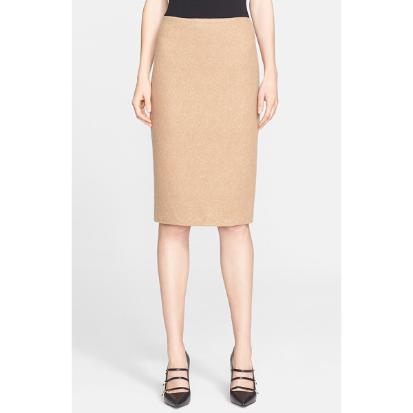 MAX MARA zanzara wool jersey skirt - Placed floral lace and a wearable neutral hue further the...