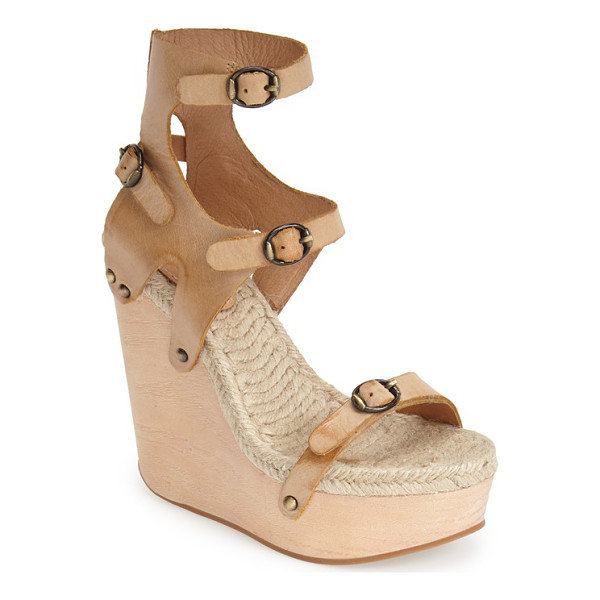 MAXSTUDIO finial espadrille wedge - A strappy, architectural sandal takes a dramatic turn with...