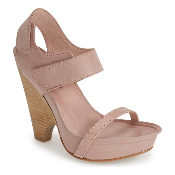MAXSTUDIO nightly demi-wedge leather sandal - A sleek demi-wedge heel adds a contemporary twist to an...
