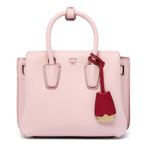 MCM 'mini milla' leather tote - A trio of interior compartments enhances the versatile...