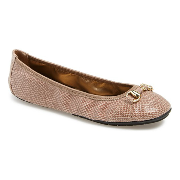 ME TOO legend ballet flat - Tonal hardware glimmers on the classic profile of a soft...