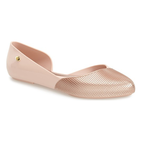 MEL BY MELISSA tangerina half dorsay flat - A flexible, fruit-scented flat made from 100% recyclable...