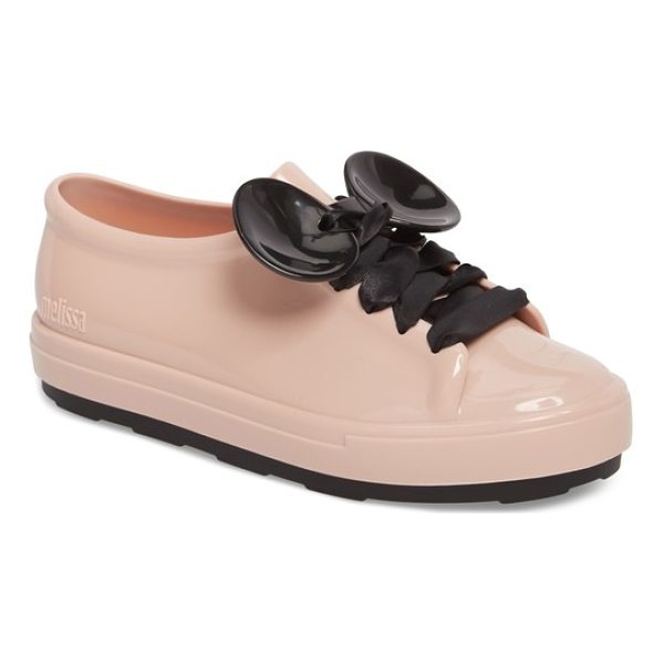 MELISSA be disney mouse ear sneaker - Satin ribbons lace up the front and through two...