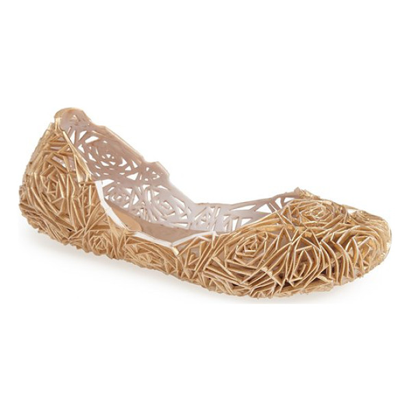 MELISSA campana fitas jelly flat - An ultra-flexible, fruit-scented flat has been beautifully...