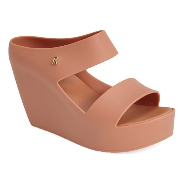 MELISSA + tropico surreal 'creative' wedge sandal - A seamless construction accentuates the sculpted wedge heel...