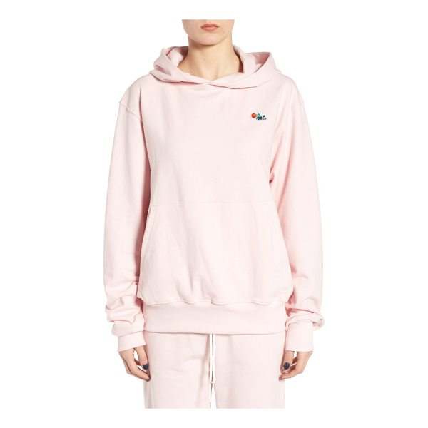 MELODY EHSANI me pullover hoodie - A signature ME rose-embroidered patch makes this soft terry...