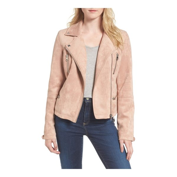 MEMBERS ONLY faux suede biker jacket - A classically designed moto jacket crafted from lush faux...
