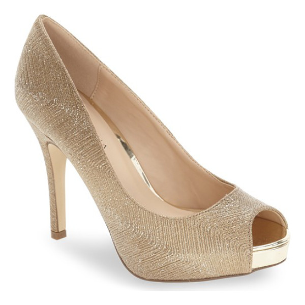 MENBUR 'cabriel' peep toe concealed platform pump - This classic peep-toe pump gets a lift from a concealed...