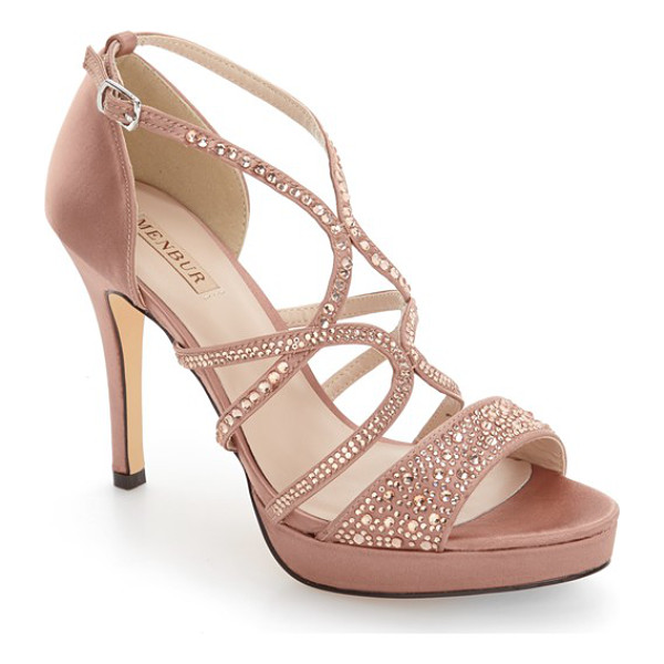 MENBUR guadalope crystal embellished sandal - Tonal crystals add a glamorous touch to a striking strappy