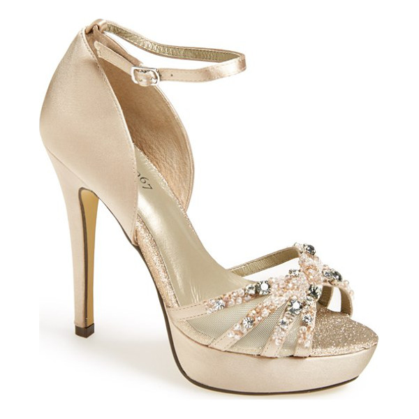 MENBUR hendel embellished platform sandal - Frosted beads and dazzling crystals catch the light on a...