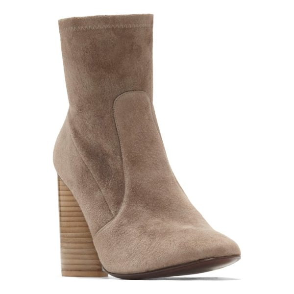 MERCEDES CASTILLO dessa round toe bootie - A dramatic teardrop heel crafted from stacked slivers of...