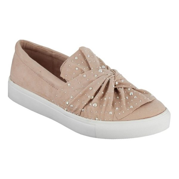 MIA aretha embellished slip-on sneaker - A knotted detail at the vamp separates this chic slip-on...