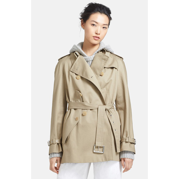 MICHAEL KORS convertible cape trench jacket - Traditional trench styling informs an ultra-versatile...