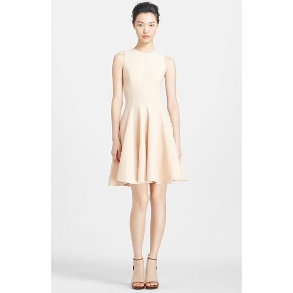 MICHAEL KORS crepe fit & flare dress - A delicate neutral hue furthers the versatility of this...