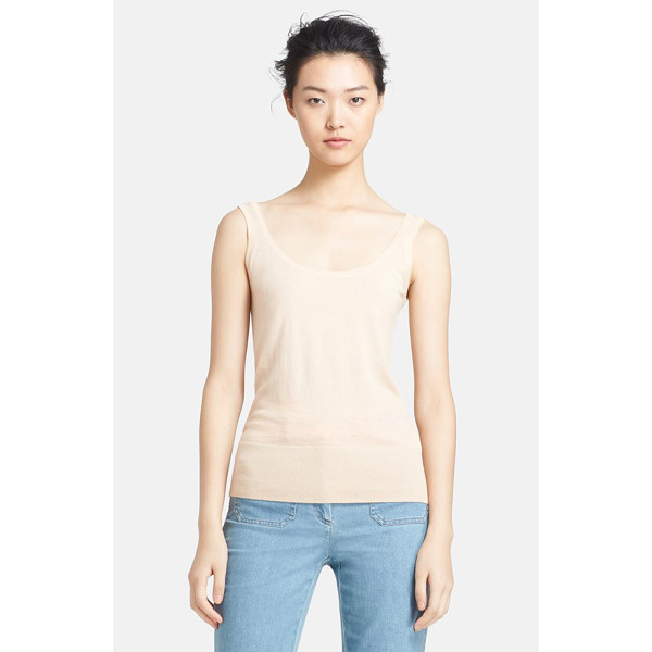 MICHAEL KORS featherweight cashmere tank - A deep scooped neck styles a whisper-weight cashmere tank...