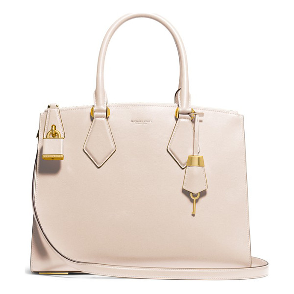 MICHAEL KORS Large casey leather satchel - Smooth leather elevates an impeccably structured satchel...