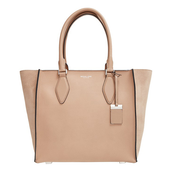 MICHAEL KORS Large gracie leather tote - Richly textured calfskin leather defines a versatile tote...