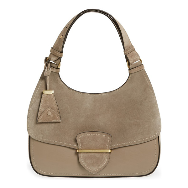 MICHAEL KORS 'large josie' leather & suede shoulder bag - A neat slip-tab detail at the flap highlights the...
