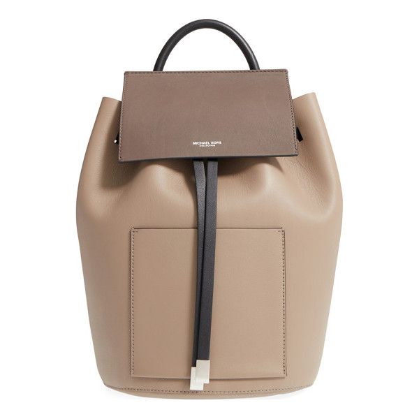 MICHAEL KORS Large miranda leather backpack - A bucket-silhouette backpack cut from buttery-soft,...