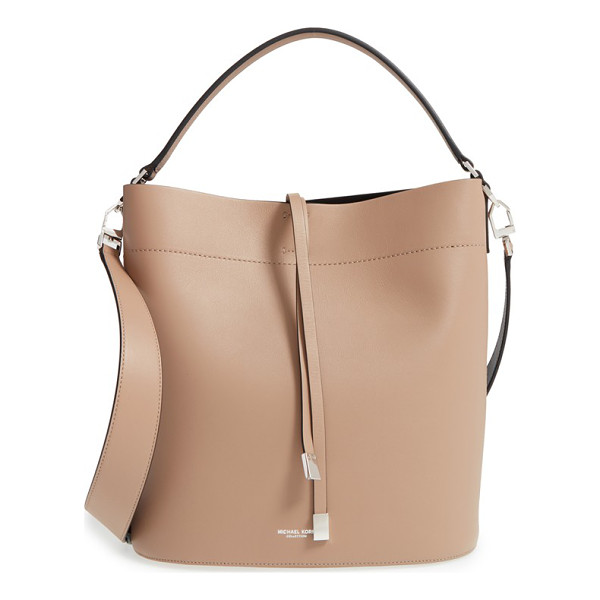 MICHAEL KORS Large miranda leather shoulder tote - Weighted ties secure the top of a structured tote cut from...