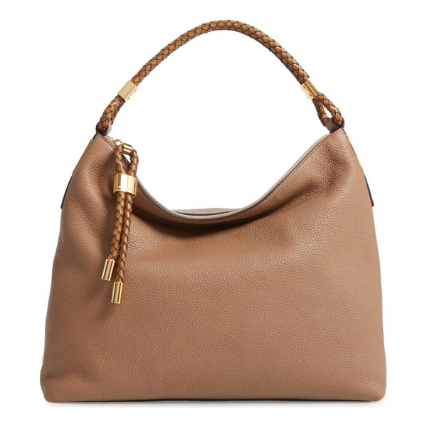 MICHAEL KORS 'large skorpios' leather hobo - A slouchy shoulder bag cut from richly pebbled leather is...