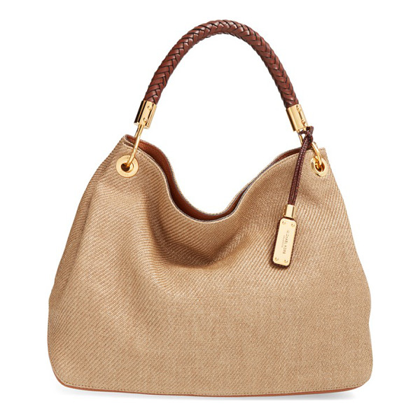 MICHAEL KORS Large skorpios woven hobo - A plaited-leather shoulder strap tops a slouchy...