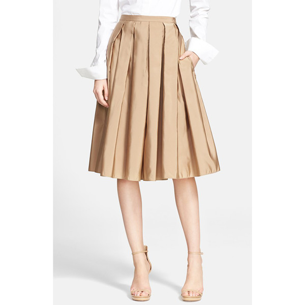 MICHAEL KORS full pleated skirt - Deep box pleats add swingy dimension to the full A-line...