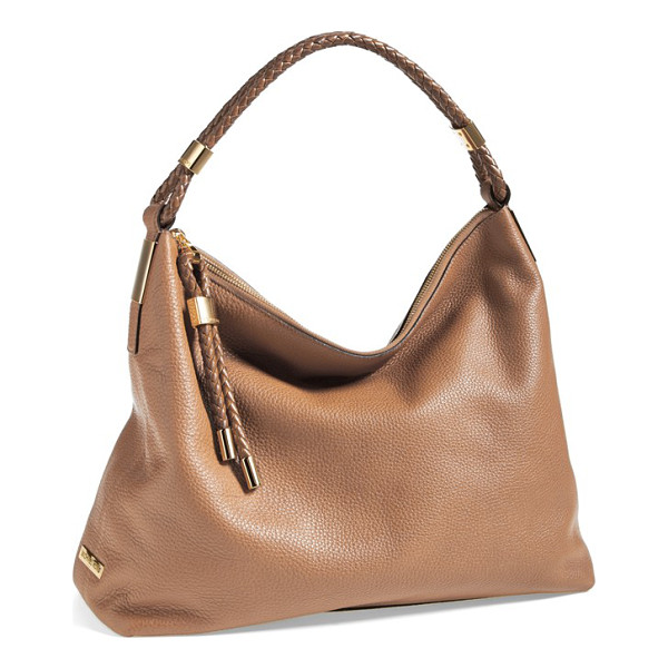 MICHAEL KORS Skorpios leather hobo - A tightly plaited shoulder strap tops a softly slouchy,...