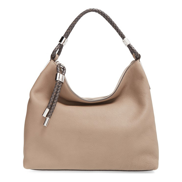 MICHAEL KORS 'skorpios' slouchy shoulder bag - Plaited leather wraps the single strap atop a slouchy,...