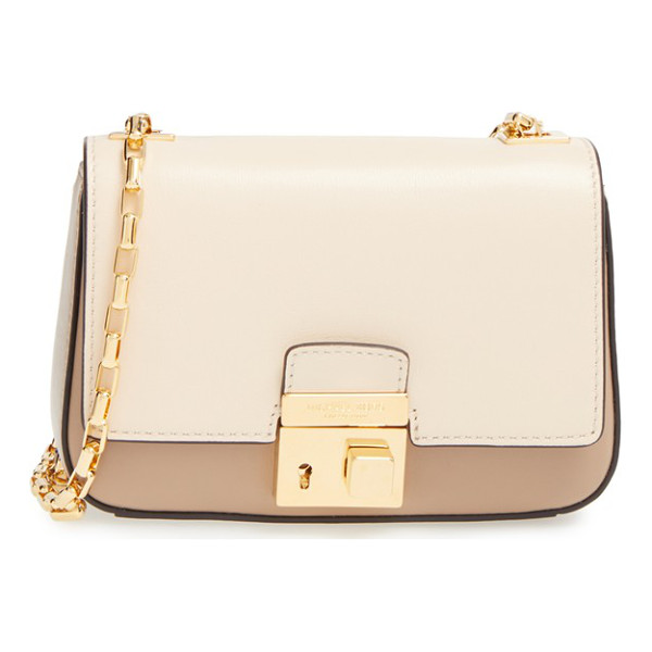 MICHAEL KORS Small gia chain strap leather shoulder bag - A logo-engraved lock secures the flap of a refined shoulder...