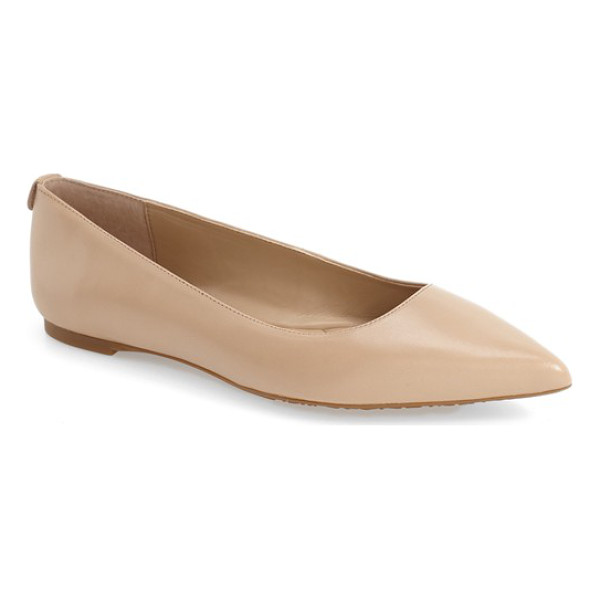 MICHAEL MICHAEL KORS arianna pointy toe flat - Simplicity at its finest, a lithe pointy-toe flat in glossy...