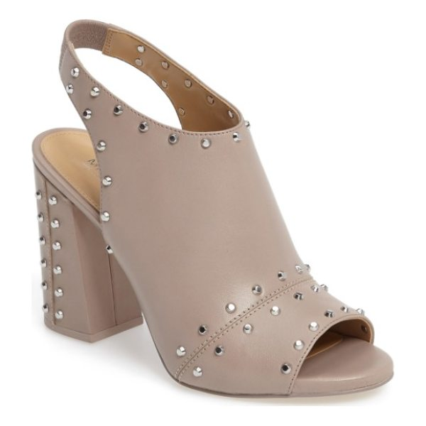MICHAEL MICHAEL KORS astor studded sandal - Blunted cone studs punctuate the smooth leather of a