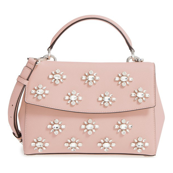 MICHAEL MICHAEL KORS ava embellished satchel - A compact satchel in Saffiano leather gets the luxe...