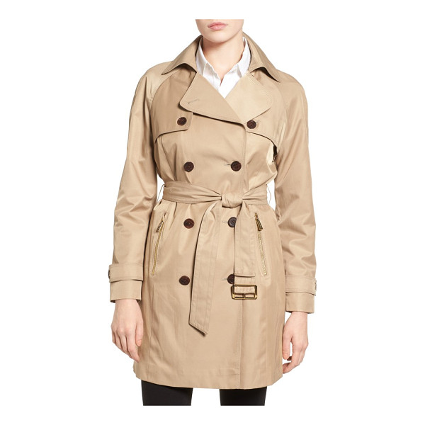MICHAEL MICHAEL KORS belted double breasted trench coat - A timeless trench coat to see you through seasons of wear...