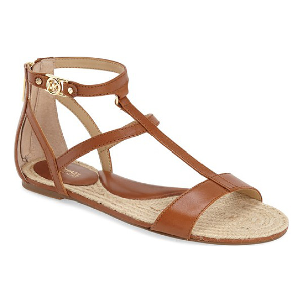 MICHAEL MICHAEL KORS bria sandal - Slender asymmetrical straps further the polished refinement...