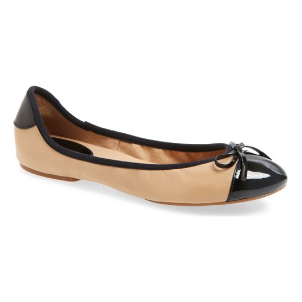 MICHAEL MICHAEL KORS 'city' ballet flat - Sporty nylon updates a smart, cap-toe flat finished with...