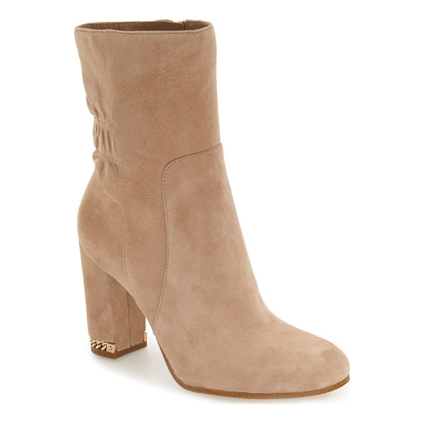 MICHAEL MICHAEL KORS dolores bootie - A ruched shaft and inset chain detailing at the heel...