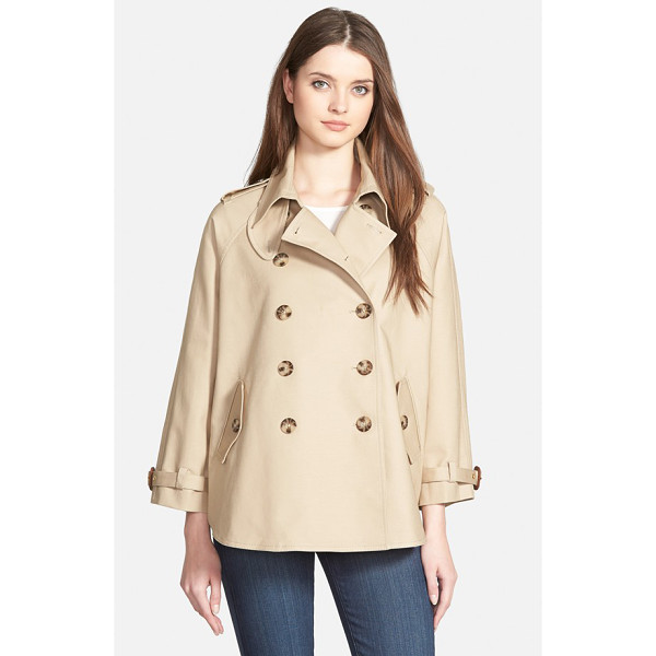 MICHAEL MICHAEL KORS double breasted swing trench coat - The double-breasted trench takes modern shape in a short,...