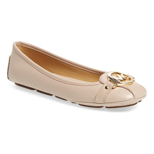 MICHAEL MICHAEL KORS 'fulton' moccasin - A driver-inspired flat makes a statement with bold logo...