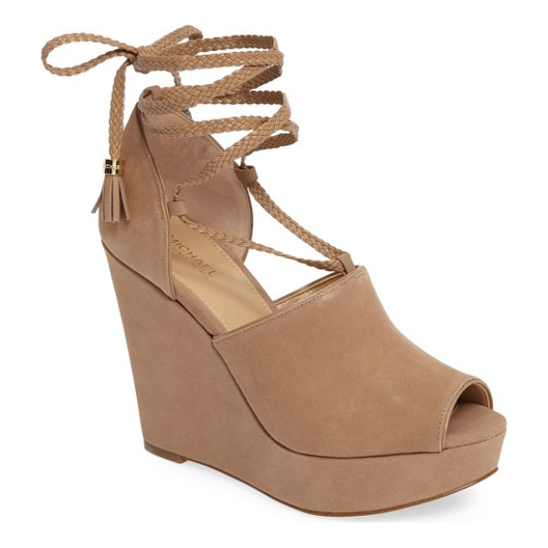 MICHAEL MICHAEL KORS hastings platform wedge - A dramatically sculpted wedge and a chunky rocker platform...