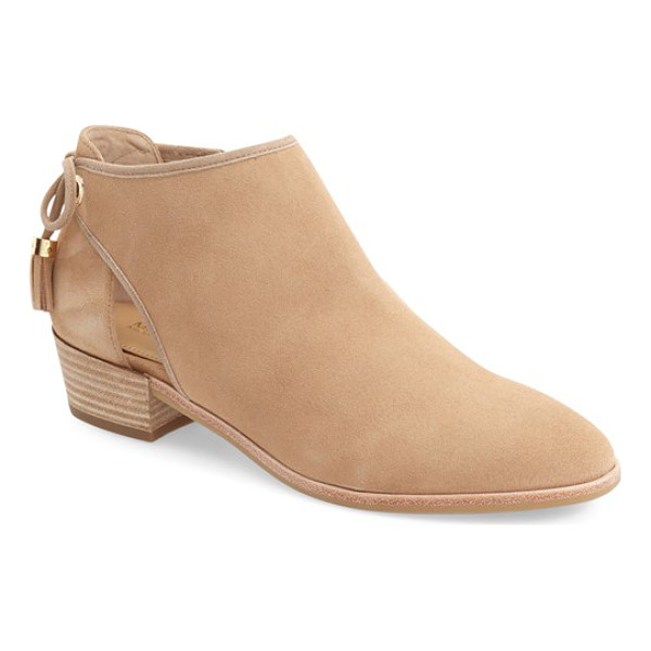 MICHAEL MICHAEL KORS 'jennings' cutout bootie - Tasseled ties dance at the back of a cutout bootie crafted...