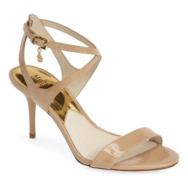 MICHAEL MICHAEL KORS kaylee sandal - A gleaming, logo-etched charm highlights the crisscross of...
