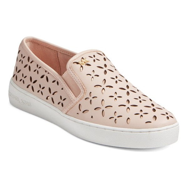 MICHAEL MICHAEL KORS keaton slip-on sneaker - Polished logo hardware provides a street-savvy upgrade for...