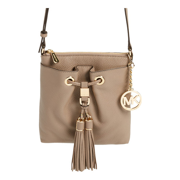 MICHAEL MICHAEL KORS Large camden drawstring crossbody bag - Swingy double tassels add a boho vibe to a drawstring-style...