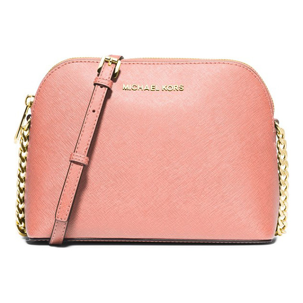 MICHAEL MICHAEL KORS Large cindy dome crossbody bag - Lavish Saffiano leather textures a lightly structured...